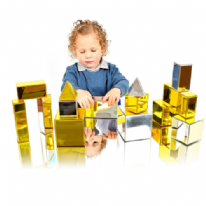 14 Piece Metallic Mini Construction Blocks